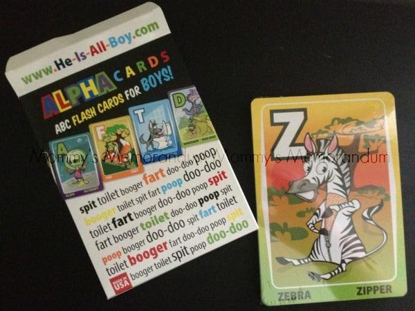 he's all boy alpha cards ABC Flash Cards for Boys