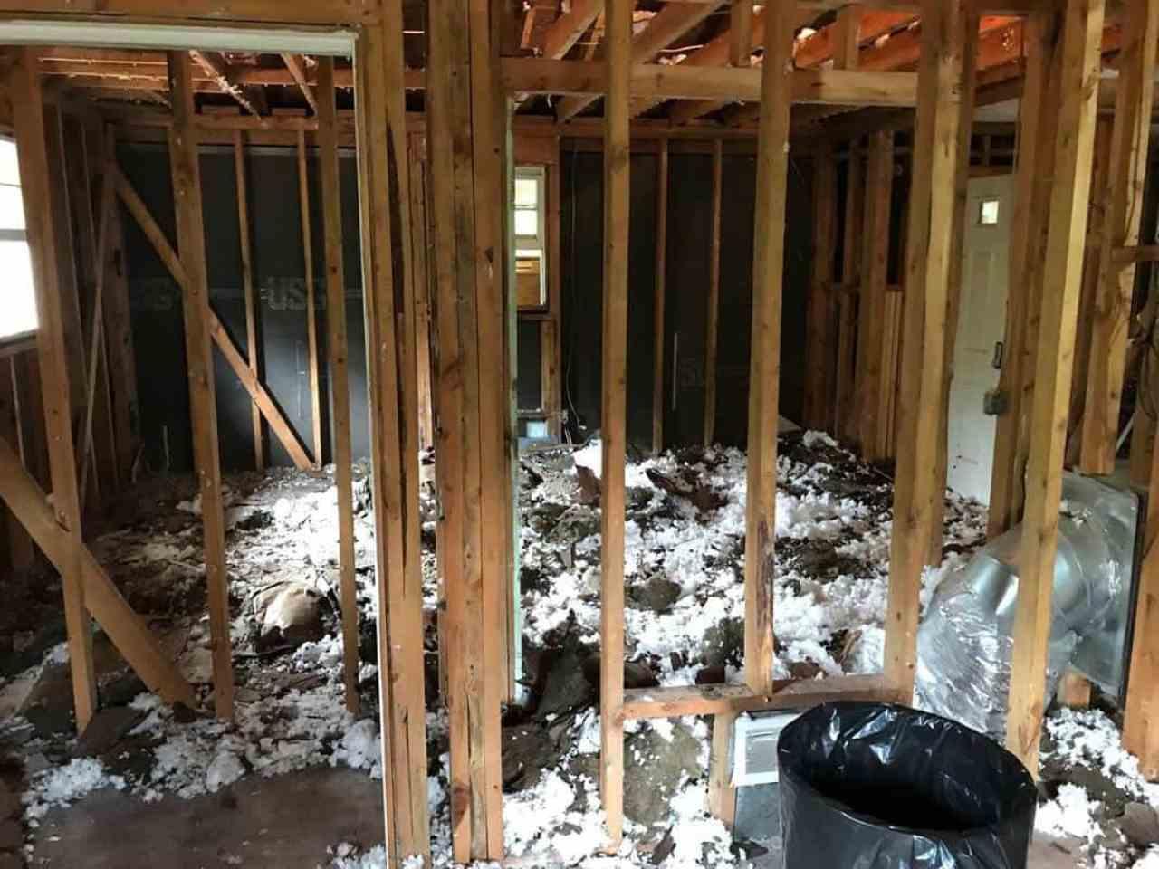 home remodel back bedroom ceiling fluff