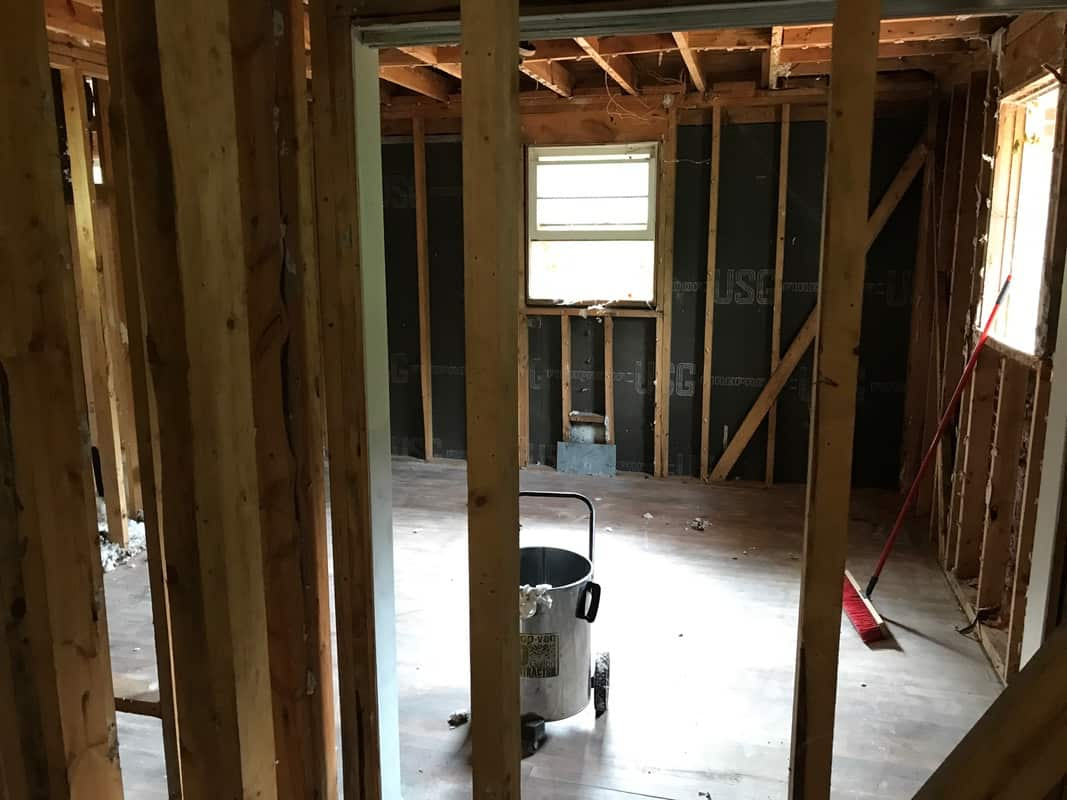 home remodel no ceilings in either bedroom
