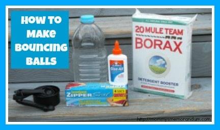 how to make borax bouncing balls