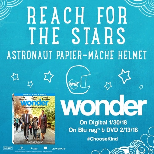 Wonder Astronaut Papier Mache Helmet