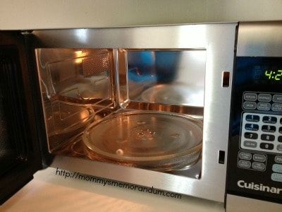 inside cuisinart stainless steel microwave