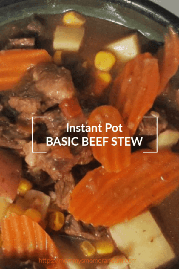 this Instant Pot Basic Beef Stew recipe is the perfect all-in-one meal. It showcases tender, moist stew meat, perfectly cooked potatoes, and vegetables all smothered in a rich, hearty broth