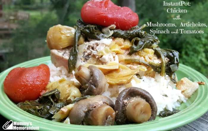 Instant Pot Recipe: Chicken with Mushrooms and Artichoke Hearts