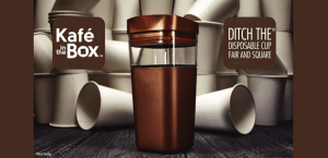 Kafé in the Box is a Square-Shaped Reusable Coffee Cup