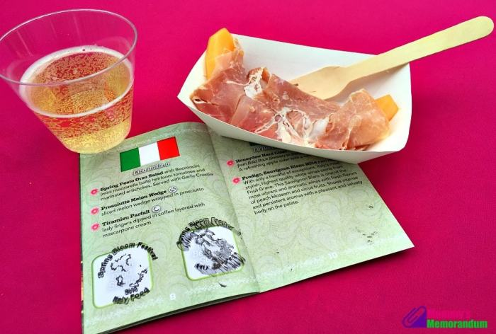kings dominion canteloupe and prosheutto italy booth