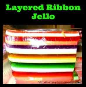 Layered Ribbon Jello #Recipe