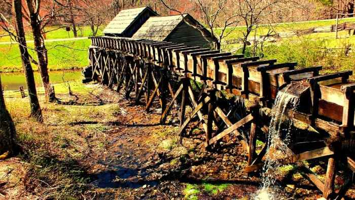 mabry mill from behind trophs