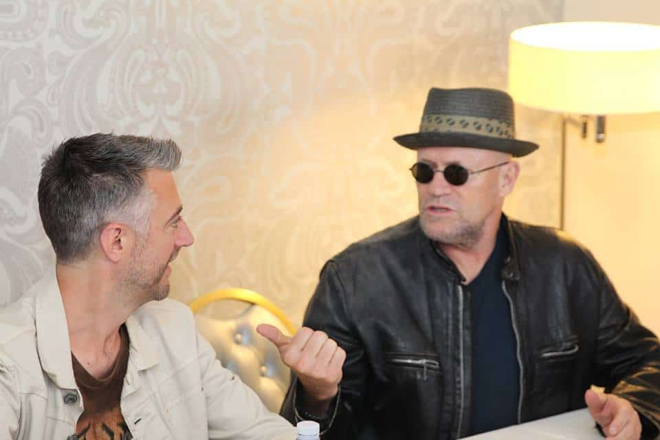 michael rooker talking to sean gunn