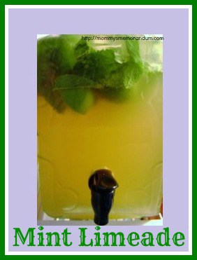 mint limeade recipe