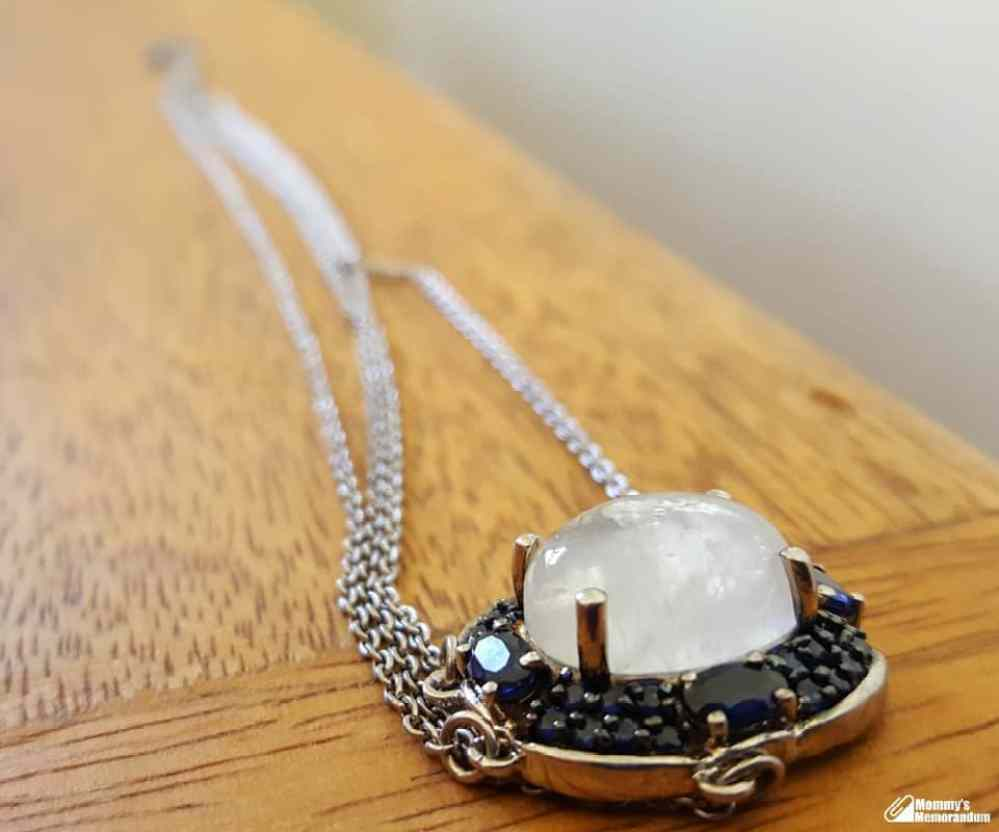 moonstone sapphire necklace