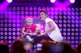 Justin Bieber with Avalanna Roth