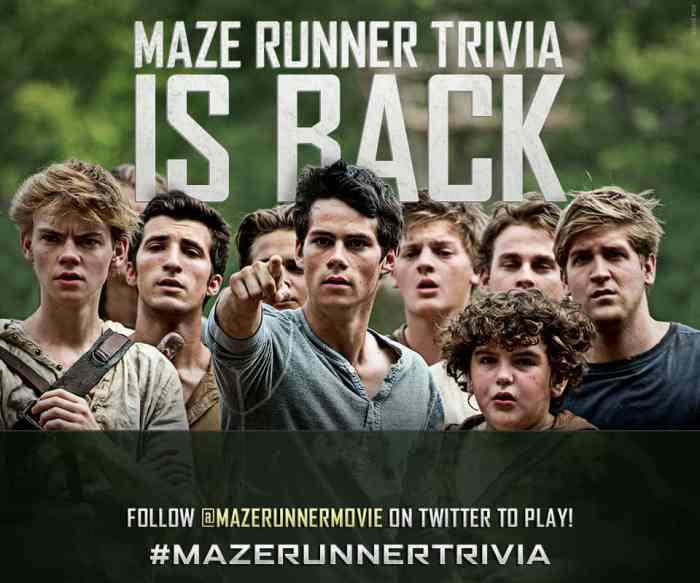 maze runner trivia