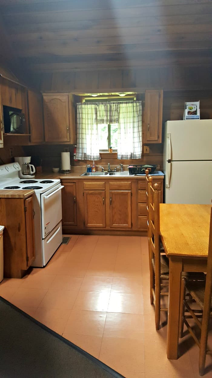 new river gorge cabins country roads cabin kitchen comes fully stocked