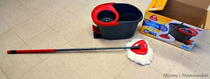 ocedar easywring mop bucket system what's included