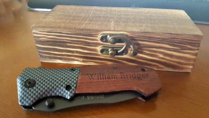 personalized cart personalized sog knife with wooden box
