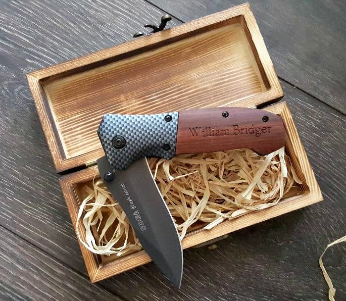 personalized cart sog folding knife