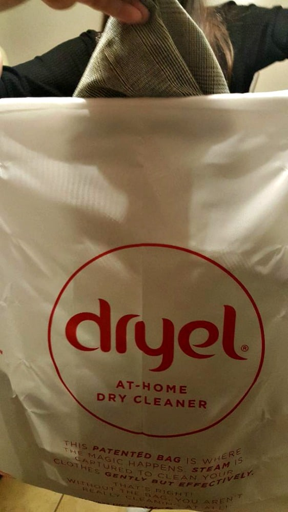 place garment in dryel bag