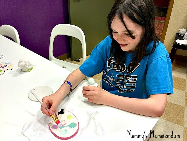 polka dot pots painting the pottery