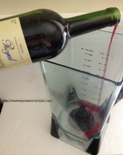pour one bottle of wine