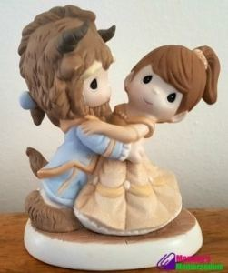 Beauty and the Beast True Love Showcased in #PreciousMomentsHoliday Figurine #DisneyHoliday #ad