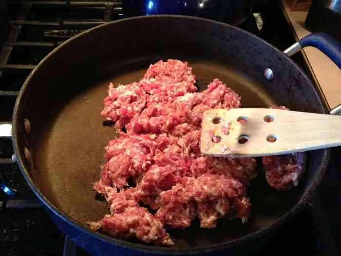 cooking the Italian Sausage