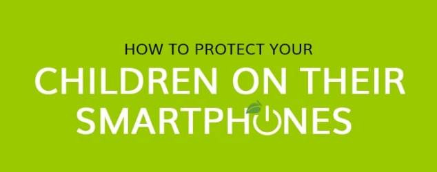 How to Protect Your Child on Their Smartphone Infographic