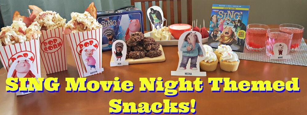 sing movie night snacks