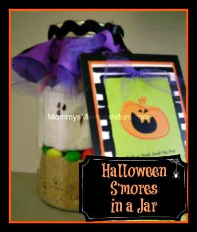 Halloween S'mores in a Jar #Halloween #Spooktacular