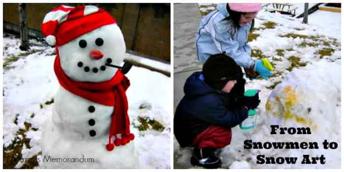 snowman to snow art Collage