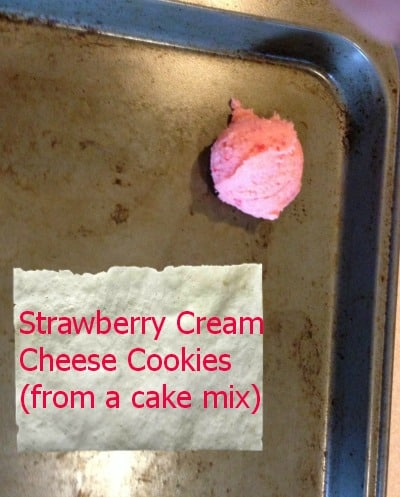 strawberry cream cheese cookies from a cake mix