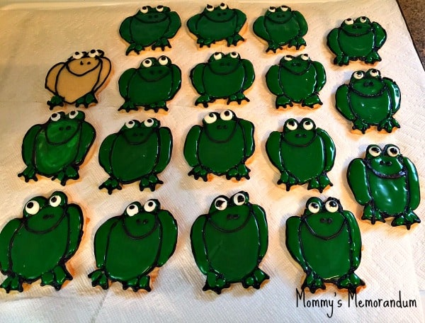 sugar cookies frogs
