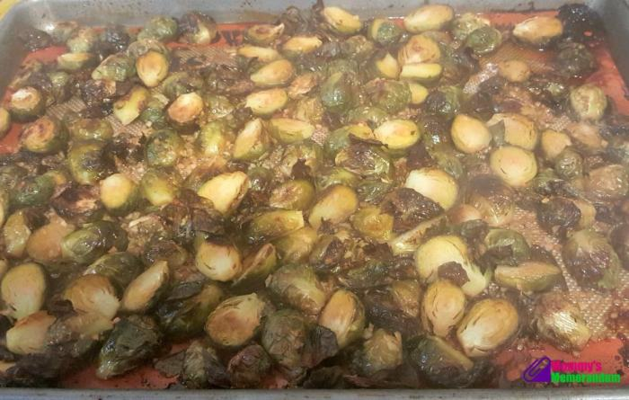 umami brussels sprouts recipe out of the oven