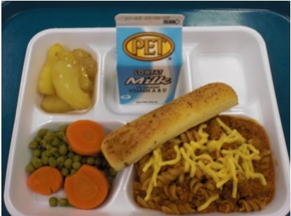 wake county schools lunch tray
