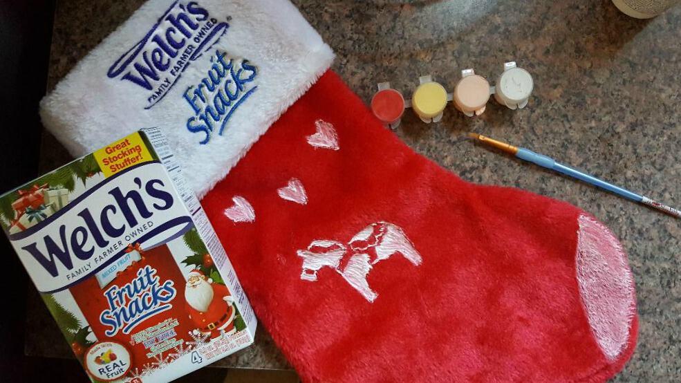 welch's fruit snacks christmas stocking