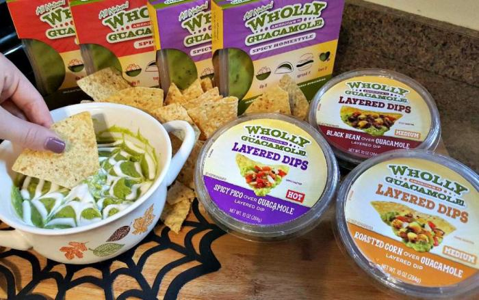 wholly guacamole spider web dip with other wholly guacamole products