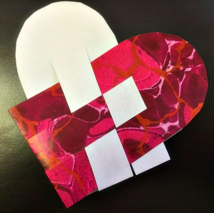 Woven Heart Basket Craft : Woven heart basket template instructions
