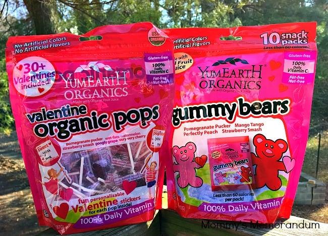 yumearth valentine organic pops and gummybears