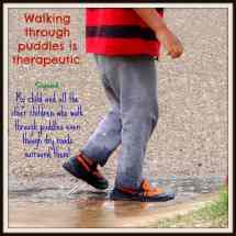 Quote About Rain Puddles