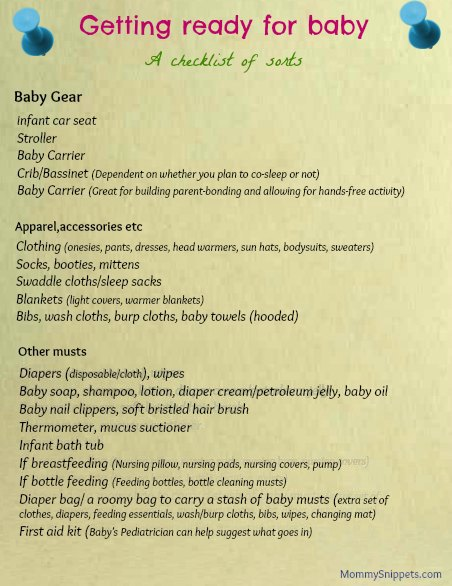 Am I Ready For A Baby : ready, Getting, Ready, Checklist, Sorts), Mommy, Snippets