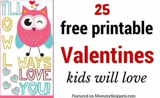 25 Free Printable Valentines Kids Will Love Mommy Snippets