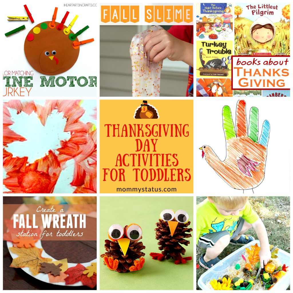 Thanksgiving Day Activities For Toddlers