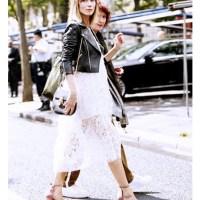 Lace with Moto Jacket l WWW.MOMMYSTYLIST.COM #TheMommyStylist