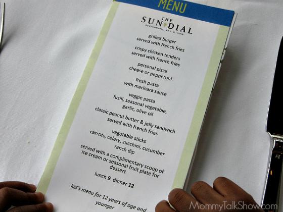 Lunch Menu For The Sundial Restaurant Atlanta