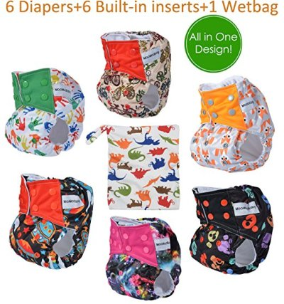 All in One Shell-Snap Cloth Pocket Diapers