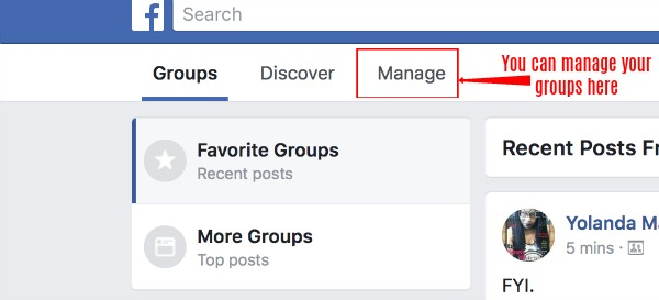 where to manage your groups