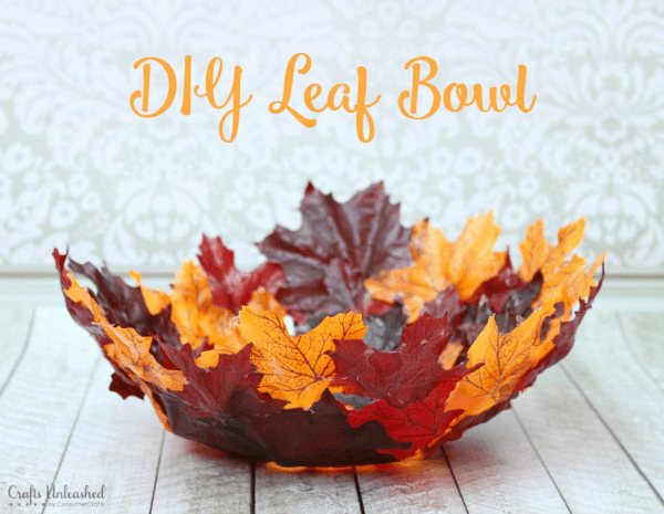 leaf bowl diy tutorial