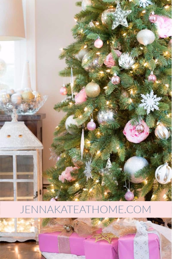 Jenna Kate at Home Breast Cancer Awareness Christmas Tree