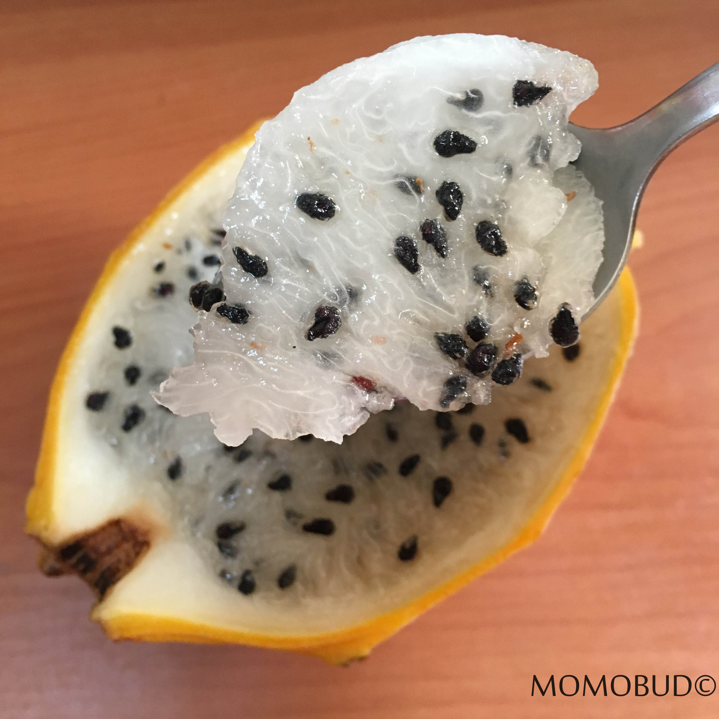 Yellow Dragonfruit With Spoon 2