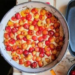 Rainier Cherries Crown Cake